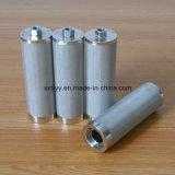 Edelstahl gesinterter Ineinander greifen-Filter des Metall304 mit Mutter
