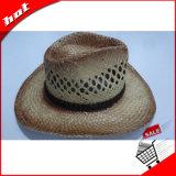 Chapéu relativo à promoção impresso do vaqueiro da palha do plânton vegetal