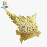 Il disegno libero il piatto di oro su ordinazione dell'ala della pressofusione per il ricordo