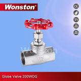 Válvula de globo 200wog do aço CF8 inoxidável