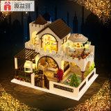 Da boneca de madeira inteletual do brinquedo DIY do miúdo do ano novo feliz 2017 presente de Hosue o melhor meu castelo ideal