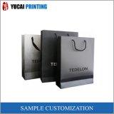 Saco de papel preto do presente dos produtos principais de Yucai