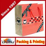Bolso de compras del papel de la cartulina de Wihte del papel de arte (210001)