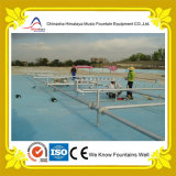 Fontaine d'eau linéaire extérieure de piscine