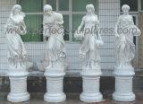 Geschnitzte Steinskulptur-Statue-Garten-Verzierung mit Marmorgranit-Sandstein (SY-X1152)