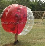 De Bal van het Voetbal van de bel, de Bal van Zorb van het Lichaam voor de Spelen van de Voetbal, Kostuum 1.2m 1.0mm TPU van de Bel