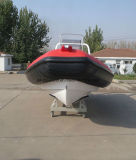 中国Aqualand 20feet 6.2m堅く膨脹可能な漁船またはガラス繊維の肋骨のボートか速度またはレスキューまたはパトロール(RIB620D)