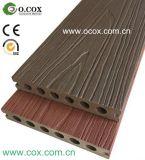 Decking composto plástico de madeira tampado polímero da co-extrusão WPC da geração nova