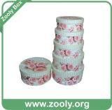 Verschachtelungs-Geschenk-Kasten/Pappe verschachtelten Papierkasten/runden nistbaren Aufbewahrungsbehälter