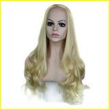Forma Europa e de América perucas onduladas de 3/4 de Synthetic por muito tempo