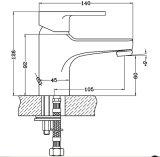 Robinet de vente chaud de bassin de taraud de bassin de salle de bains de qualité