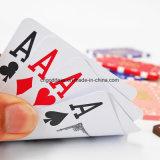 Kundenspezifische waschbare 100% spielende Schürhaken-Plastikkarten, kundenspezifische Spielkarten