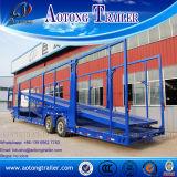 Caminhão dobro Semi Traile do transporte do carro dos eixos/caminhão de reboque portador de carro para a venda