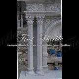 Camino bianco Mfp-1022 di Carrara del camino del camino di pietra del camino di marmo del granito