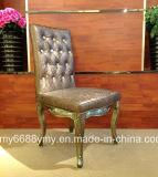 Cadeiras brancas do banquete do couro artificial