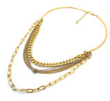 De Europese Halsbanden van de Nauwsluitende halsketting van de Halsbanden van de Keten van de Kleur van de Stijl Zilveren/Gouden Multilayer Regelbare