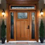 Puerta de entrada de madera sólida del vario diseño para el hotel