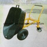 Una carriola resistente industriale delle quattro rotelle