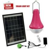 Sistema de iluminación casero solar barato con 3 lámparas y cargadores del teléfono