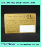 Gold-oder Silber-Karte mit Unterzeichnung für Verein