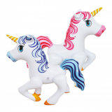 Caballo inflable del PVC o de TPU del juguete de la fiesta de cumpleaños de los regalos de los niños
