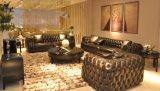 Sofá do couro da mobília da sala de visitas (B8)