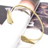I braccialetti registrabili delle doppie ali di angelo aprono i braccialetti del polsino