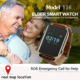 Montre de traqueur de GPS avec le moniteur du rythme cardiaque pour des personnes âgées/pélerin (Y16)