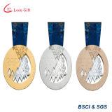 Médaille d'or personnalisée d'allumette de yoga du logo 3D pour le gagnant
