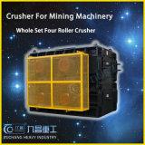 China granito Trituradora de cuatro rodillos / cilindros trituradores Máquina precio