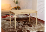 Conjunto de jantar de madeira de pinheiro com aparência moderna