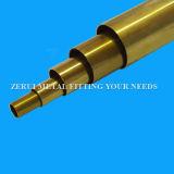 tubo de cobre amarillo difícilmente drenado largo C27200 de los 6m