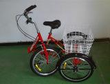 3개의 짐수레꾼 세발자전거 Pedicab 인력거를 접히는 20 인치