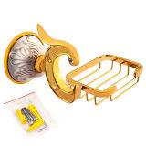 Piatto di sapone della stanza da bagno sanitaria degli articoli e cestino fissati al muro di lusso (BaQaB1303-EL-GD)