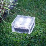 Solarziegelstein-Eis-Würfel-vertieftes Plattform-Pfad-Licht Wiith RGB