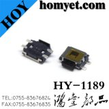 Interruptor de corrediça/interruptor do tacto com Pin 4 Sidepush SMD de 4.7*3.5*1.6mm (hy-1189)