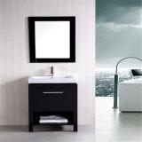 Тщета раковины ванной комнаты американского пола стоящая с зеркалом