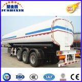 3 axes 50cbm Acier au carbone sans flamme liquide Cargo utilitaire Camion citerne Camion semi-remorque avec 4 silos