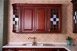 Da mobília americana da cozinha de Welbom do estilo da madeira contínua gabinetes 2016 de cozinha levantados americanos