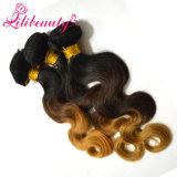 Extensões de cabelo humano Hiar Ombre Body Wave Remy Weave de cabelo humano