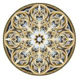 Medalhão Waterjet redondo do mosaico do mármore do mármore do medalhão