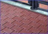 El azulejo de goma al aire libre, recicla el azulejo de goma, pavimentadora de goma colorida