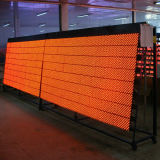 Semioutdoor ao ar livre impermeável que anuncia o único módulo ambarino do indicador de diodo emissor de luz da cor P10