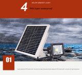 La garantie solaire de l'aluminium DEL allume la lumière d'inondation de détecteur de mouvement