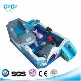 Glissière de thème de requin de modèle de Cocowater/videur gonflables LG9016