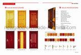 Porte intérieure en bois solide, porte de pièce en bois solide
