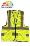 Подгоняйте тельняшку безопасности высокой видимости различную отражательную с карманн, застежками -молниями, логосами и цветами