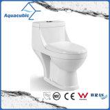 Toilette en céramique de cabinet monopièce de Siphonic de salle de bains (AT2004)