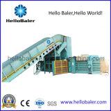 Presión de embalaje automática Presión de cartón de máquina de prensa de papel de residuos con transportador