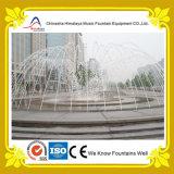 Fontana illuminata interattiva di musica con figura dinamica dell'acqua